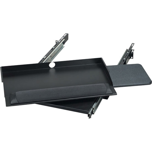"Black Box 19"" Sliding Pivoting Keyboard Tray with Mouse Tray RM385"