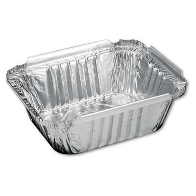 Handi-Foil of America Aluminum Oblong Container, 1 Pound, 5-9/16 x 4-9/16 x 1-5/8