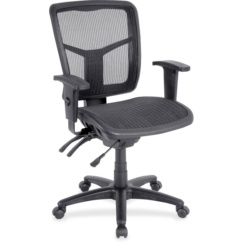 Lorell Mid-Back Swivel Mesh Chair 86904 LLR86904