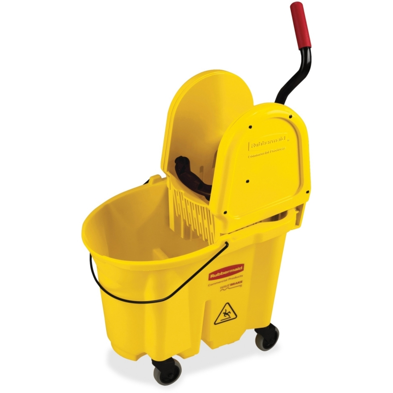 Rubbermaid WaveBrake Down Press Combo Mop Bucket 757788YL RCP757788YL