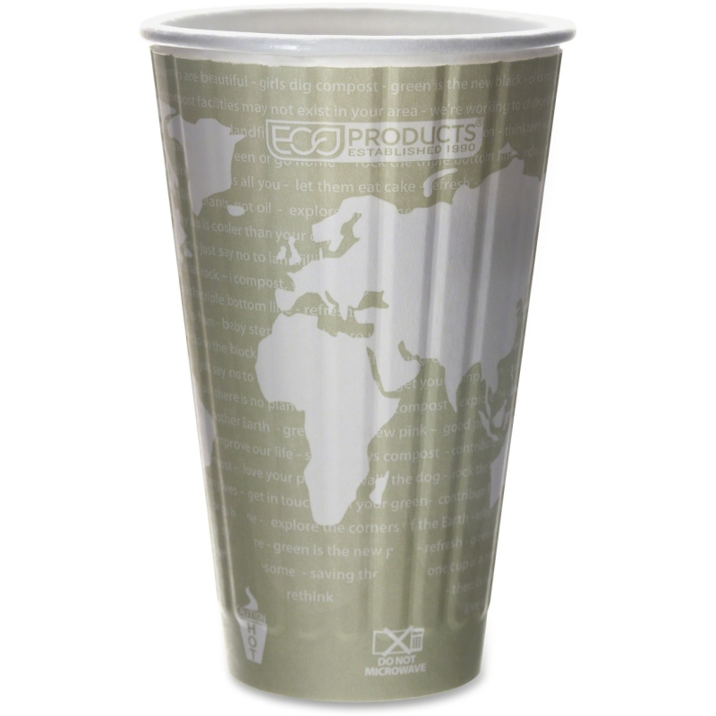 Eco-Products Eco-Products World Art Insulated Hot Cups EPBNHC16WD ECOEPBNHC16WD
