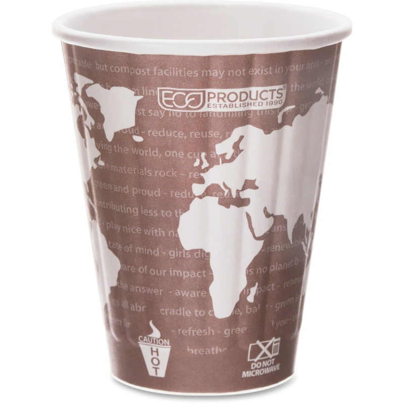 Eco-Products Eco-Products World Art Insulated Hot Cups EPBNHC8WD ECOEPBNHC8WD