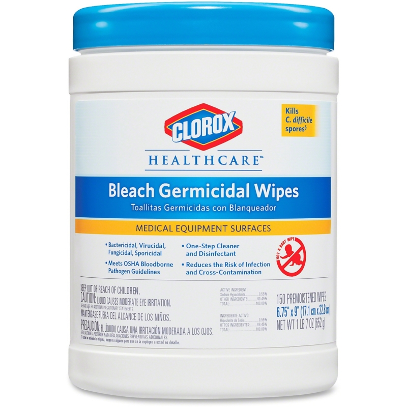 Clorox Healthcare Bleach Germicidal Wipes 30577 CLO30577