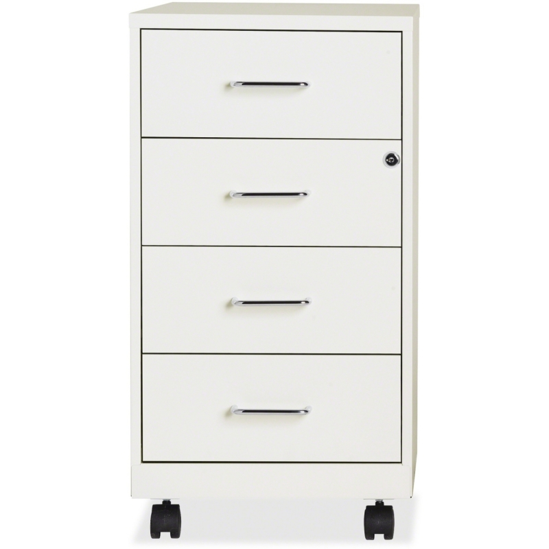 "Lorell 4-drawer 26-1/2"" Mobile Storage Cabinet 19537 LLR19537"