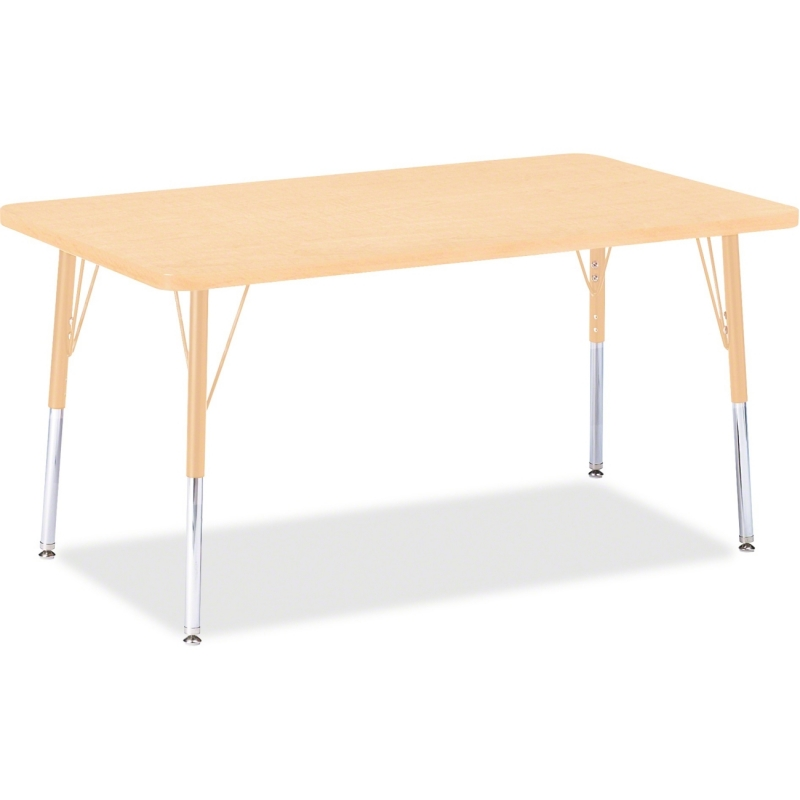 Berries Adult Height Maple Top/Edge Rectangle Table 6473JCA251 JNT6473JCA251