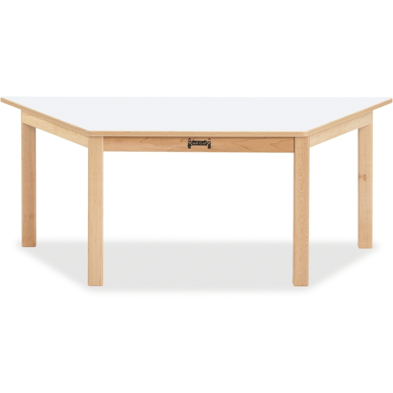 Jonti-Craft Multi-purpose White Trapezoid Table 53210JC JNT53210JC