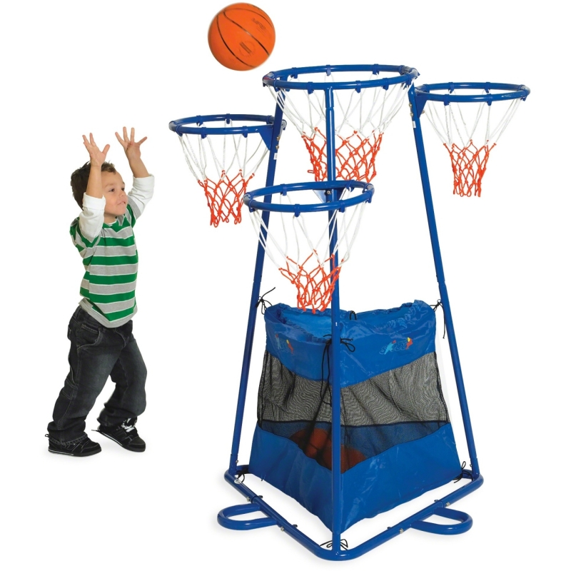 Childrens Factory Children's Fact. 4-ring Storage Basketball Stand BA9001 CFIBA9001
