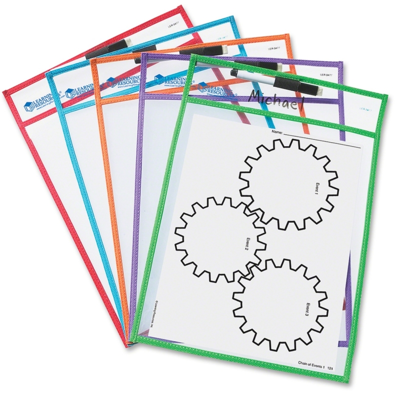 Learning Resources Write-and-wipe Pockets LER0477 LRNLER0477