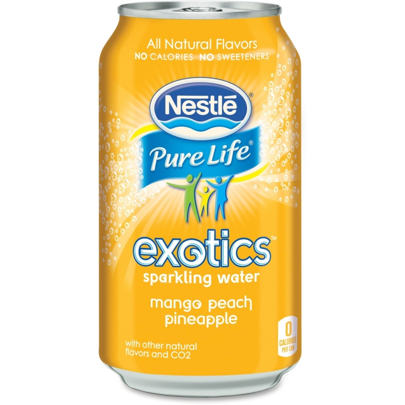 Pure Life Exotics Mango/Peach Sparkling Water 12252765 NLE12252765
