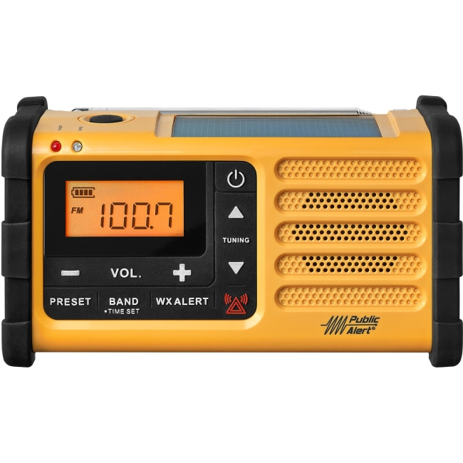 Sangean FM / AM / Weather / Handcrank / Solar / Emergency Alert Radio MMR-88
