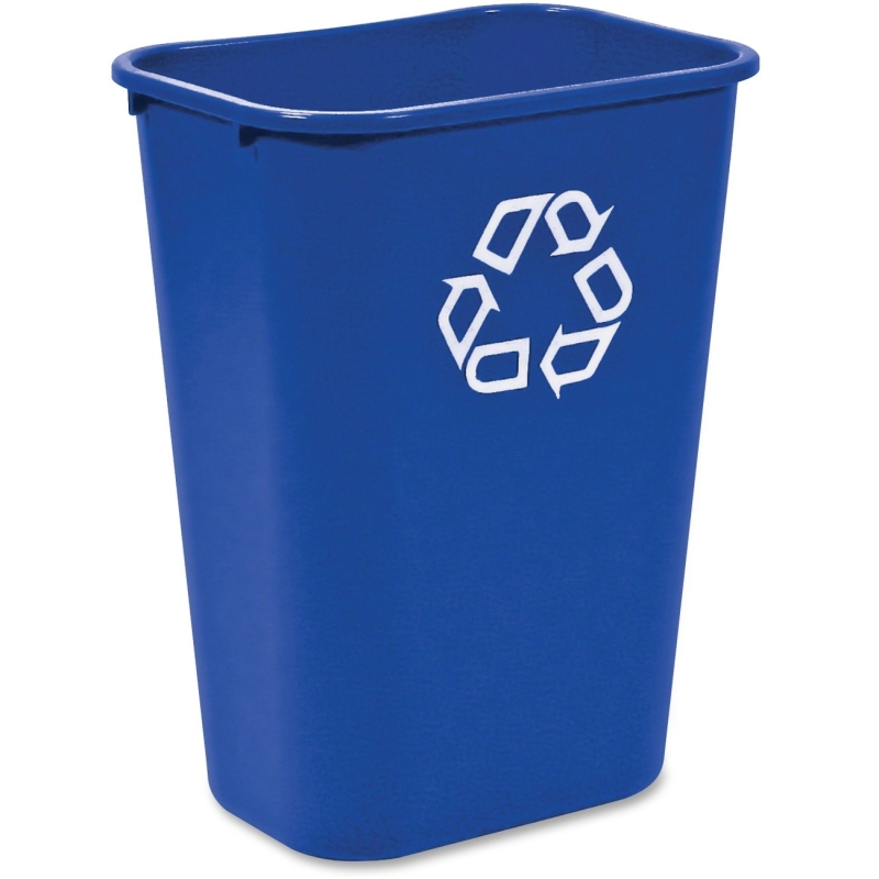 Rubbermaid 2957-73 Deskside Recycling Container, Large with Universal Recycle Symbol 295773BLUE RCP295773BLUE