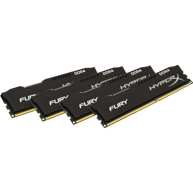 Kingston HyperX Fury Memory Black - 16GB Kit (4x4GB) - DDR4 2133MHz HX421C14FBK4/16