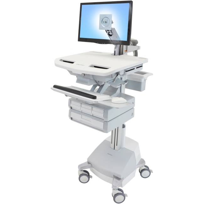 Ergotron StyleView Cart with LCD Arm, SLA Powered, 4 Drawers SV44-1241-1