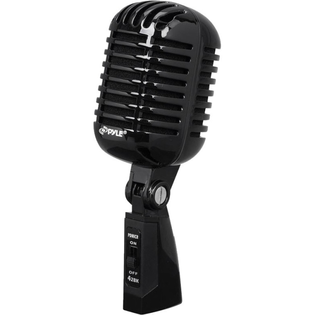 PylePro Classic Retro Microphone PDMICR68BK