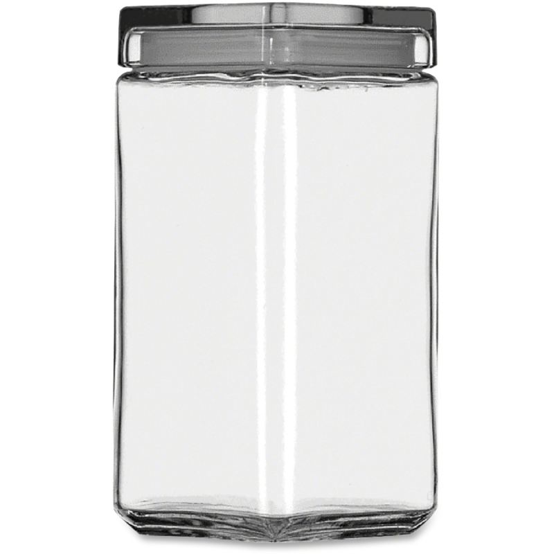 Office Settings Clear Glass Jar GJ02Q OSIGJ02Q