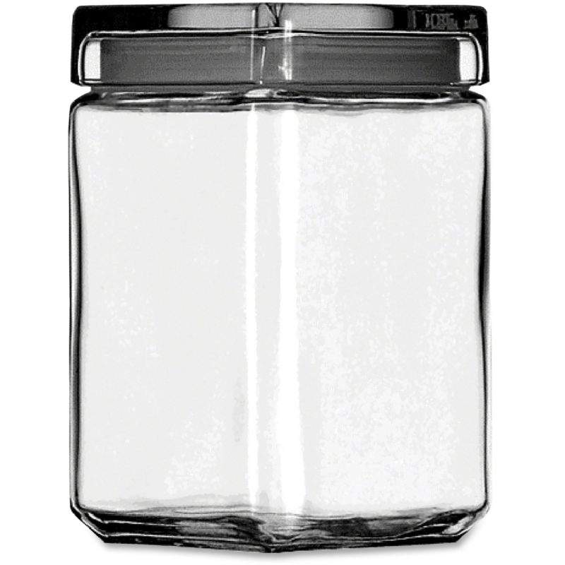 Office Settings Clear Glass Jar GJ15Q OSIGJ15Q