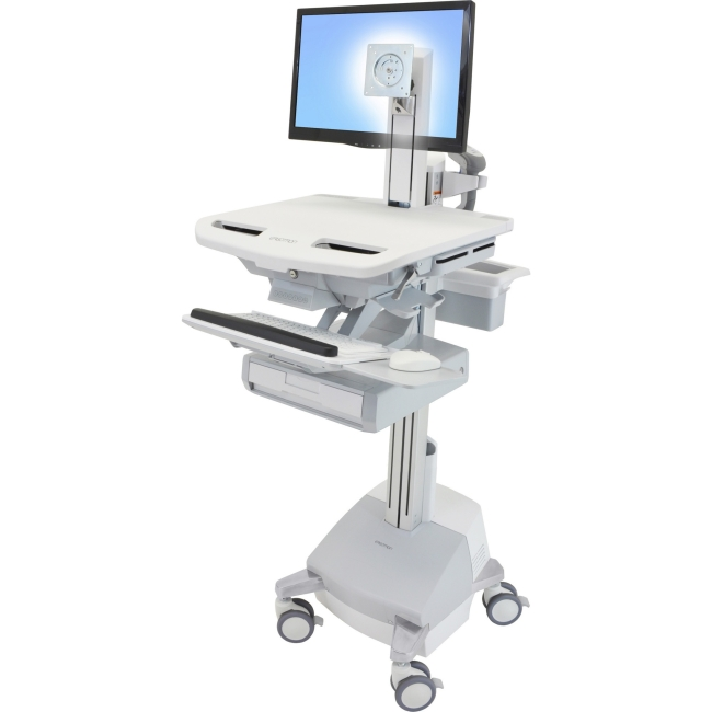 Ergotron StyleView Cart with LCD Pivot, SLA Powered, 1 Drawer SV44-1311-1