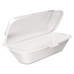 Dart Foam Hoagie Container with Removable Lid, 9-4/5x5-3/10x3-3/10, White, 125/Bag DCC99HT1R 99HT1