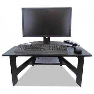 Victor High Rise Stand-Up Desk Converter, 28 x 23 x 12-14 1/2, Black VCTDC100 DC100