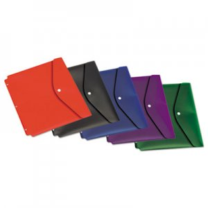 Cardinal Dual Pocket Snap Envelope, 11 x 8 1/2, Assorted Colors, 5/Pack CRD14950 14950