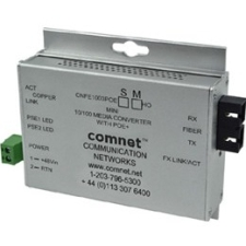 ComNet Commercial Grade 100Mbps Media Converter with 48V POE, Mini CWFE1003POESHO/M