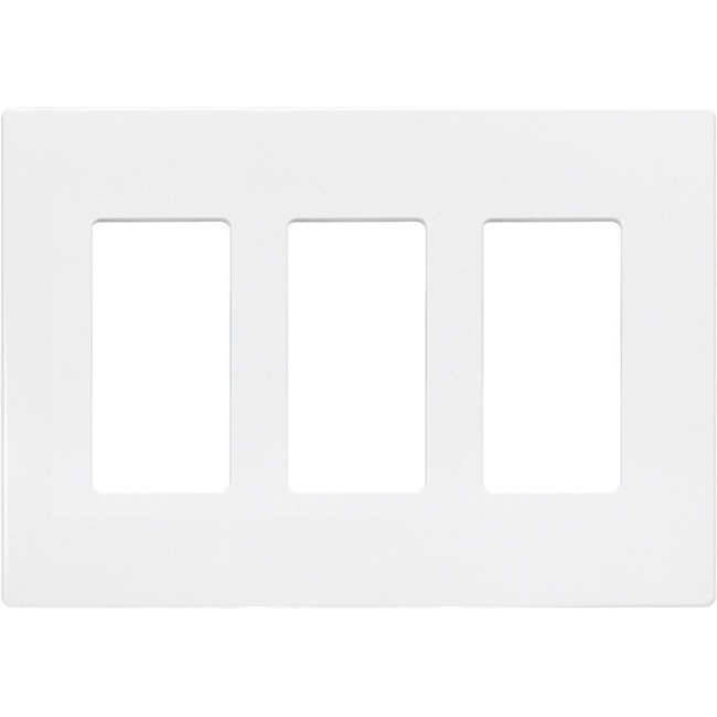 insteon screwless wall plate quad gang ivory 2422 253. Black Bedroom Furniture Sets. Home Design Ideas