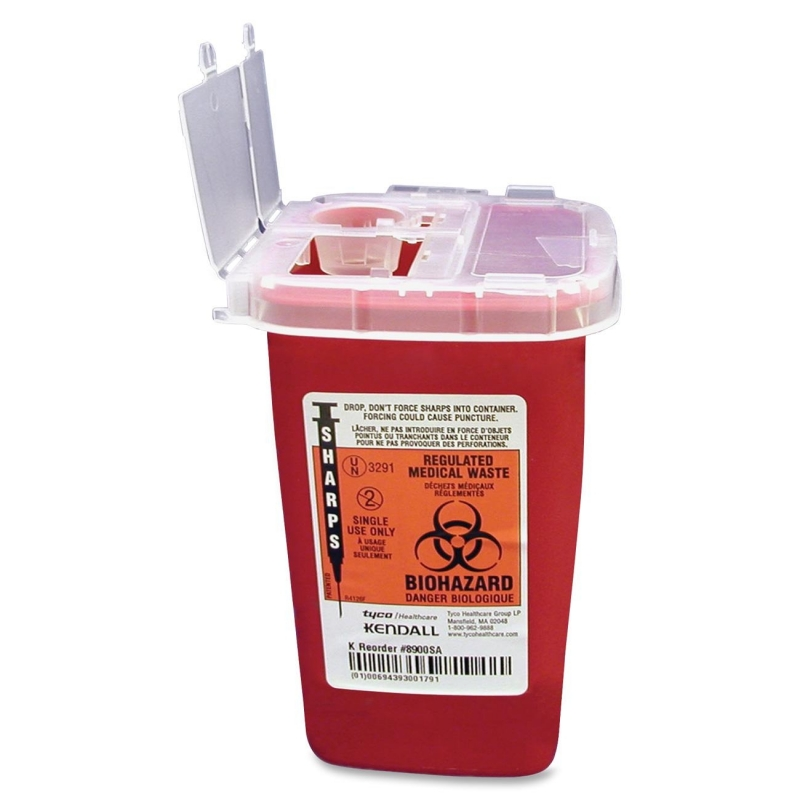 Covidien Sharps 1 Quart Phlebotomy Container With Lid SR1Q100900 CVDSR1Q100900