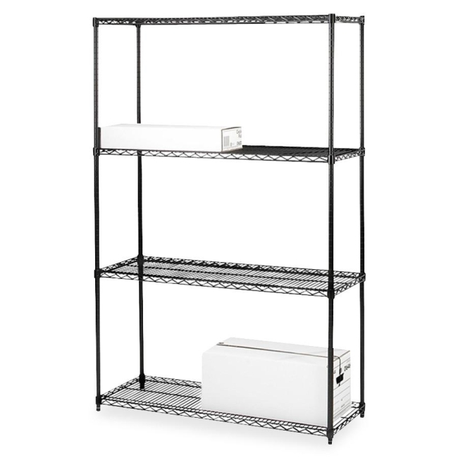 Lorell 4-Shelf Add-On Wire Shelving 70060 LLR70060