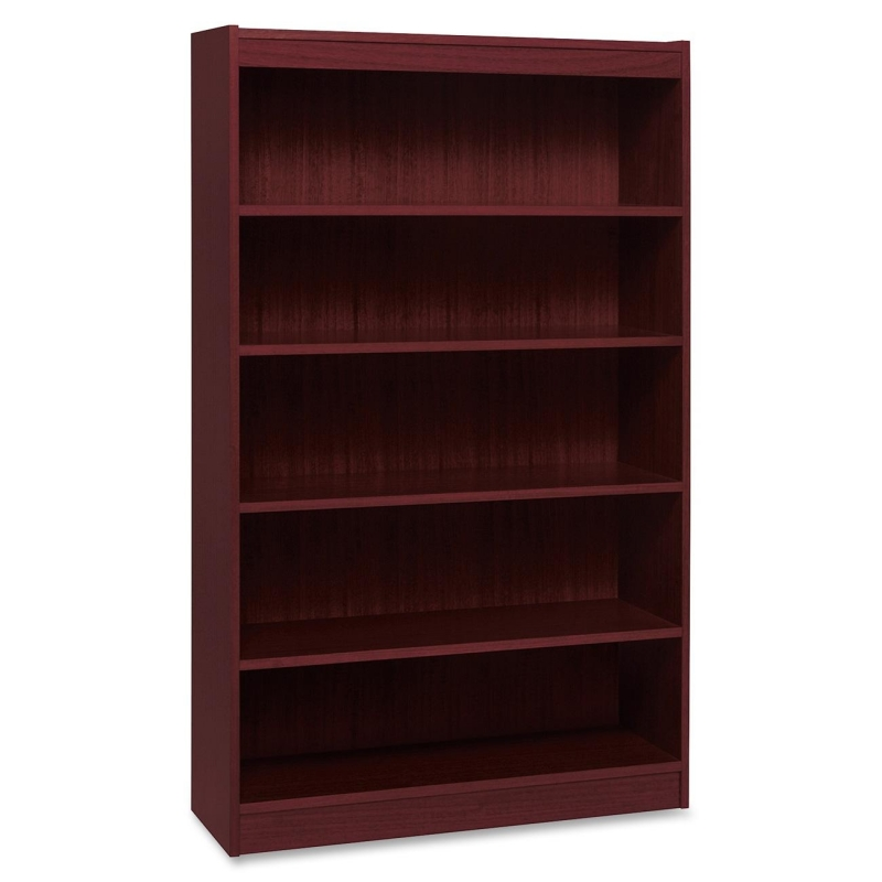 Lorell Panel End Hardwood Veneer Bookcase 60073 LLR60073