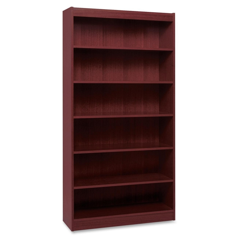 Lorell Panel End Hardwood Veneer Bookcase 60074 LLR60074