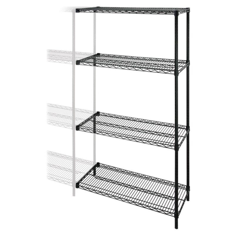 Lorell Industrial Adjustable Wire Shelving Add-On-Unit 69142 LLR69142