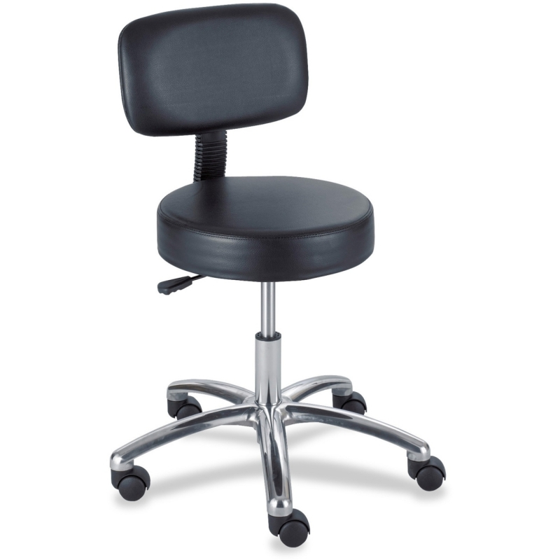 Safco Safco Pneumatic Lab Stool With Back 3430BL SAF3430BL