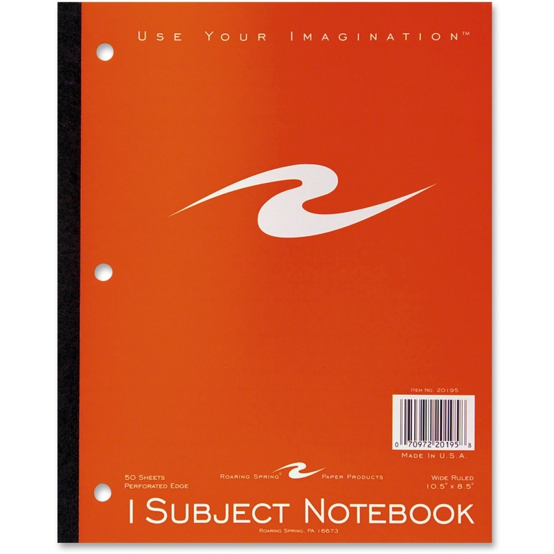 Roaring Spring 1-Subject Tapebound Notebook 20195 ROA20195