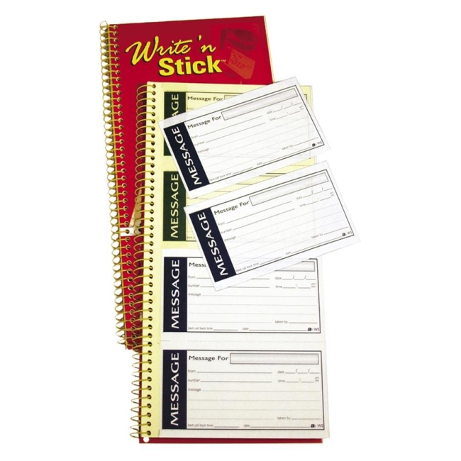 Adams Adams Spiral Phone Message Book SC1153WS ABFSC1153WS
