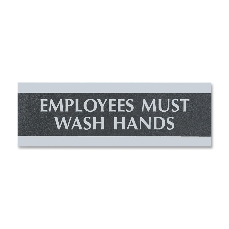 U.S. Stamp & Sign Employees Must Wash Hands Sign 4782 USS4782