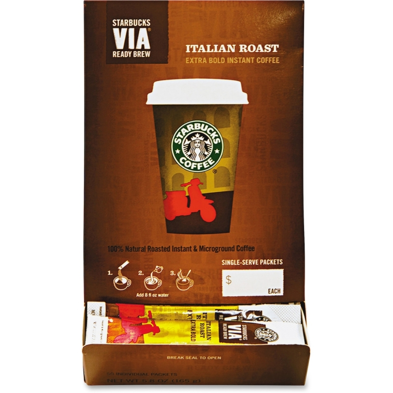 Starbucks Starbucks VIA Ready Brew Italian Roast Coffee Ground 11008130 SBK11008130 1103418