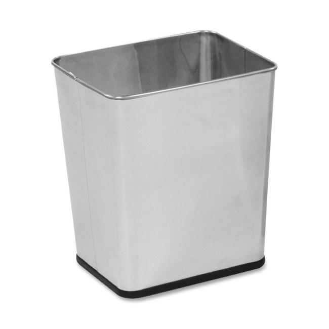 Rubbermaid Commercial Stainless Steel Wastebasket WB29RSS RCPWB29RSS