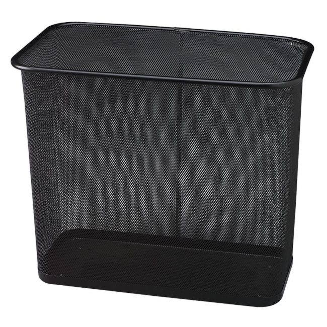 Rubbermaid Commercial Steel Mesh Rectangle Wastebasket WMB30RBK RCPWMB30RBK