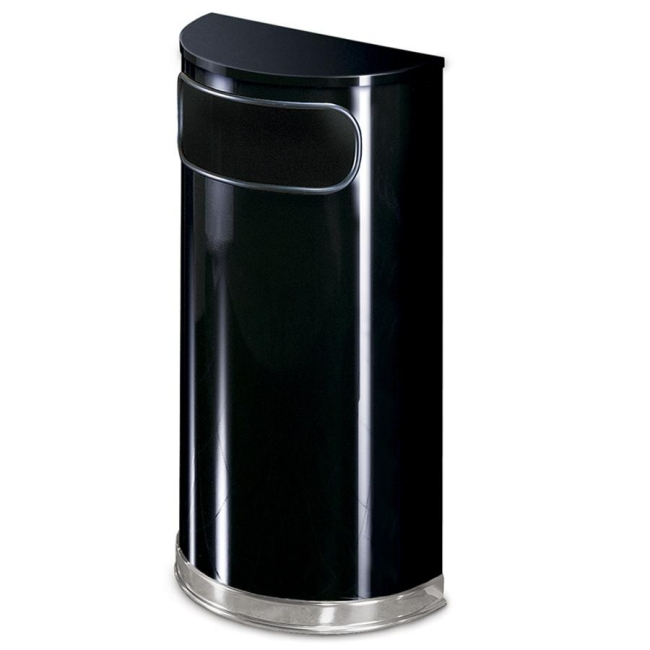Rubbermaid Commercial Half Round Receptacle SO820PLBK RCPSO820PLBK