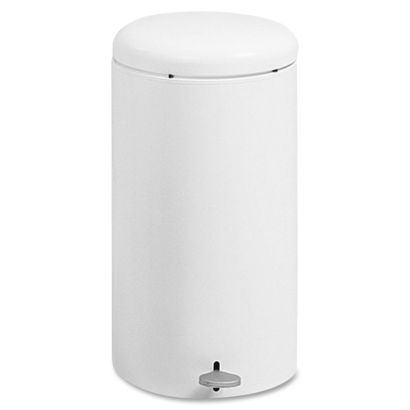 Safco Step-On Garbage Can 9683WH SAF9683WH