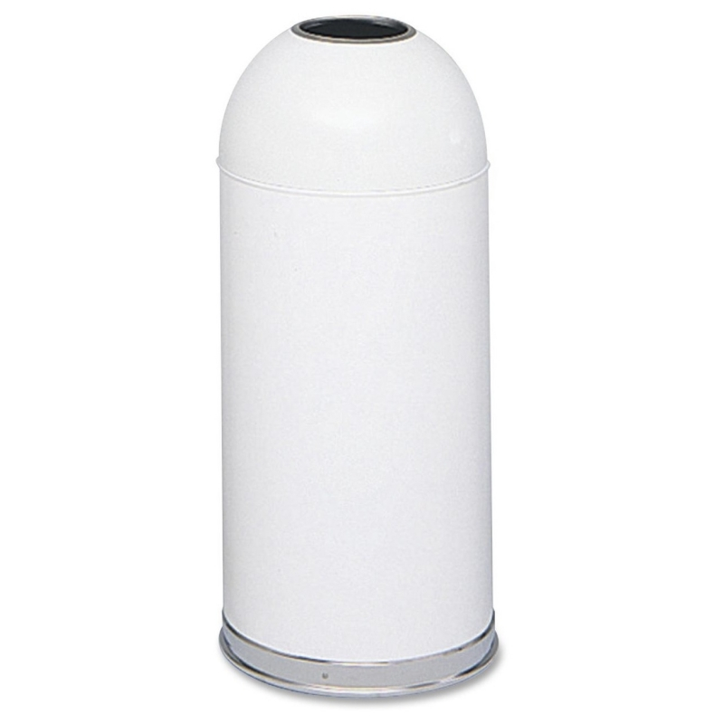 Safco Open Top Dome Waste Receptacle 9639WH SAF9639WH