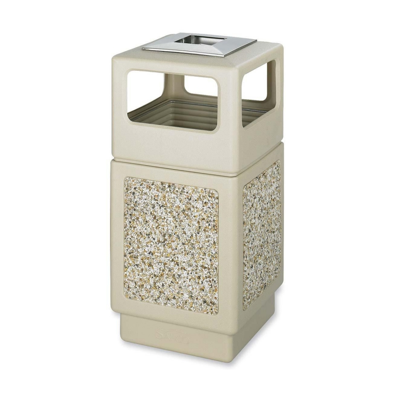Safco Canmeleon Aggregate Side Open Receptacle with Ash Urn 9473TN SAF9473TN 9473
