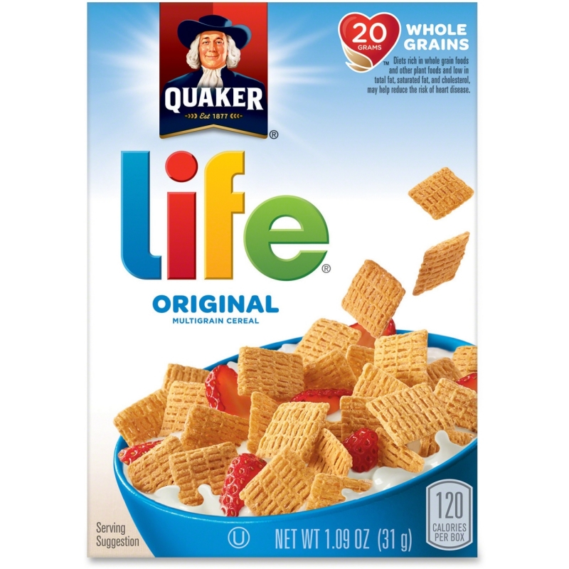 Quaker Oats Life Original Multigrain Cereal Box 43338 QKR43338