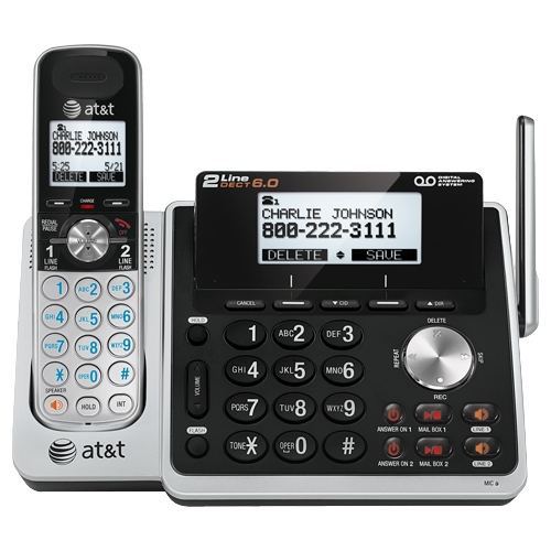 AT&T 2-line Answering System with Caller ID/Call Waiting TL88102