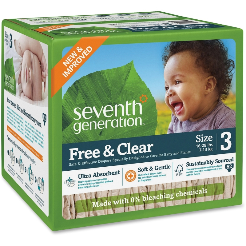Seventh Generation Seventh Generation Baby Free & Clear Stage 3 Diapers 44079 SEV44079