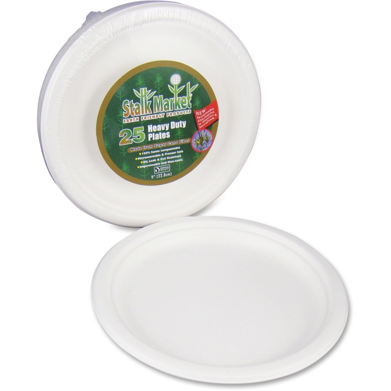 StalkMarket Disposable Plates P013R STMP013R