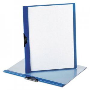 Oxford No-Punch Report Cover, Letter, Clip Holds 30 Pages, Clear/Blue OXF52002 52002