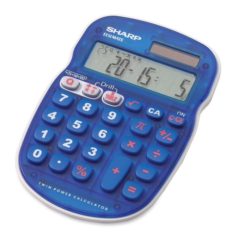 Sharp ELS25 Quiz Calculator ELS25BBL SHRELS25BBL