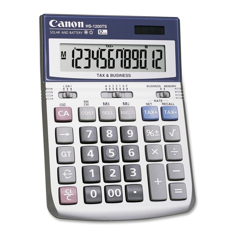 Canon HS-1200TS 12-Digit Angled Display Calculator HS1200TS CNMHS1200TS