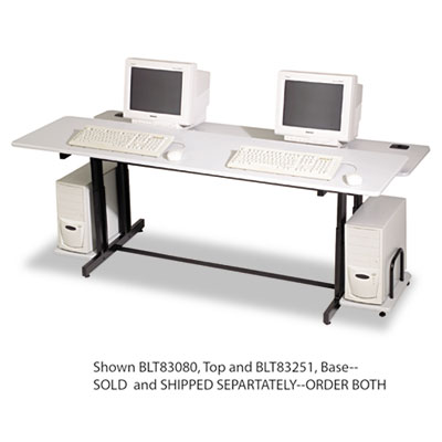 BALT Split-Level Computer Training Table Base, 72w x 36d x 33h, Black (Box Two) BLT83251 83251